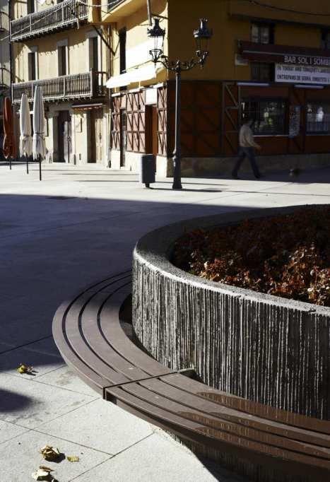 Squares In Puigcerda Landscape Architecture Wall Exterior Concrete Planters