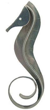 Paul Lobel modernist, 3-dimensional sterling seahorse pin, ca. 1950s