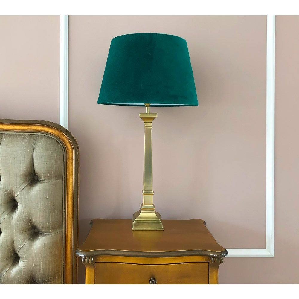 Empire Emerald Velvet Table Lamp