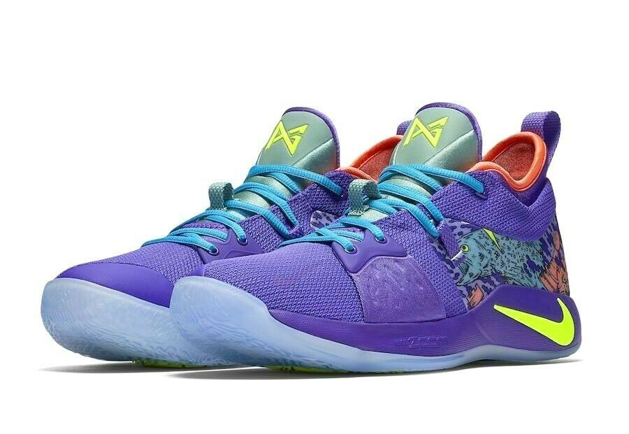 competitive price d6ee1 6777c Nike PG 2 MM Mens Basketball Shoes 12 Cannon Volt Purple Venom B-grade