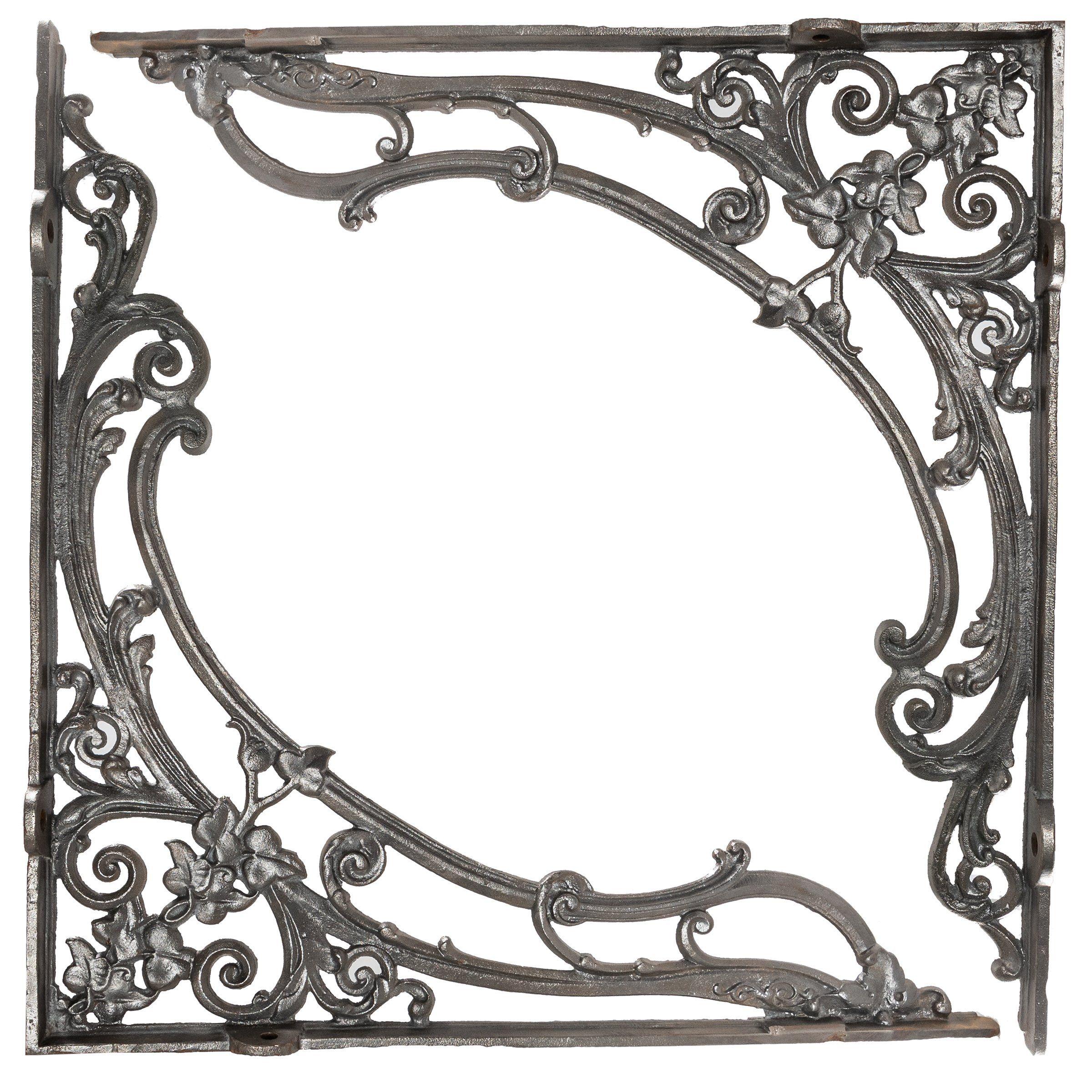 "5/"" PAIR OF BLACK VICTORIAN SCROLL  cast iron ornate shelf support wall brackets"