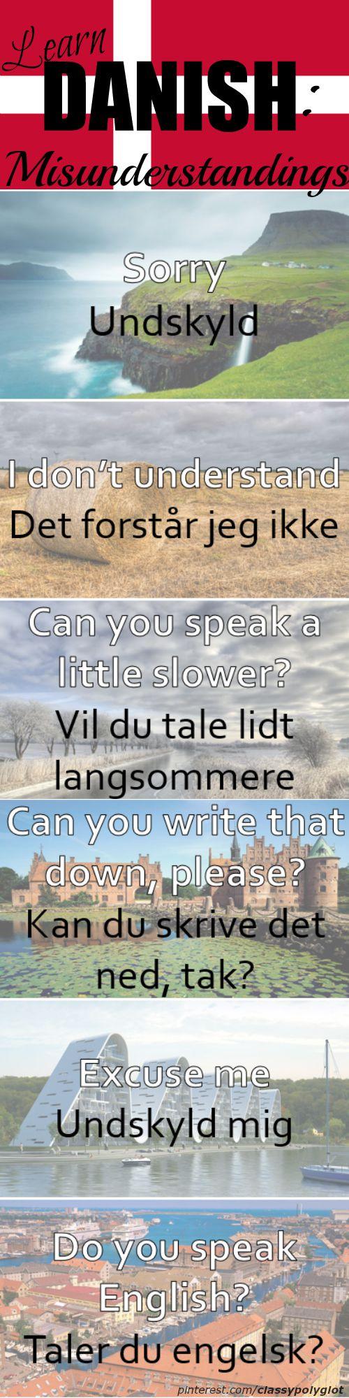 Misunderstandings Dansk Danish Language Danemark Danisch Kopenhagen