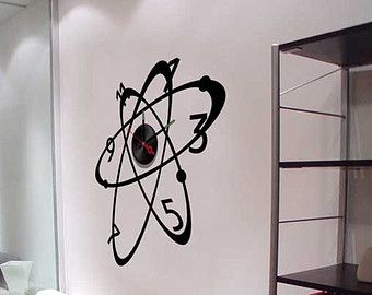 Decal with clock