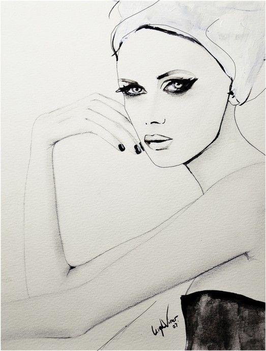 Fashion illustration - stylish fashion drawing // Leigh Viner
