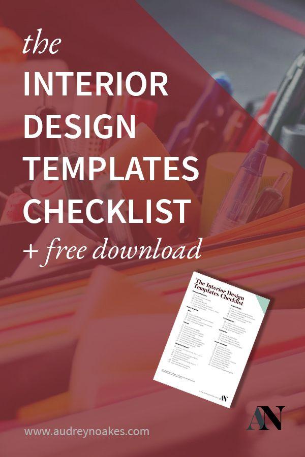 The Interior Design Templates Checklist - Audrey Noakes