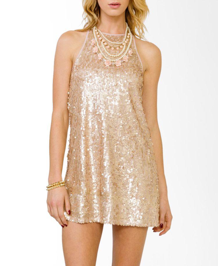 Shimmering Paillette Cocktail Dress forever21 Sequin