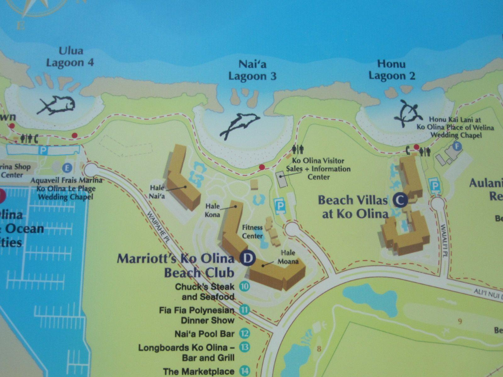 Ko Olina Beach Villas Resort Map