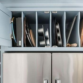 Delightful Vertical Pan Rack Cabinet Over Refrigerator | Kitchen Remodel Ideas! |  Pinterest | Pan Rack, Refrigerator And Kitchens
