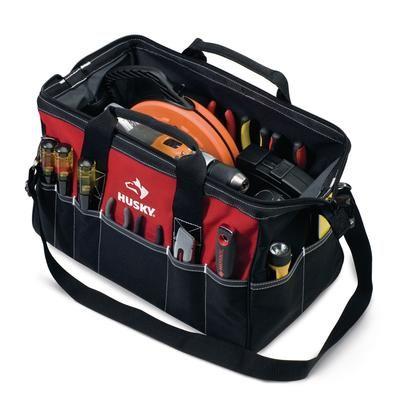 husky - 18 inch large tool bag - 81631n09 - home depot canada ...