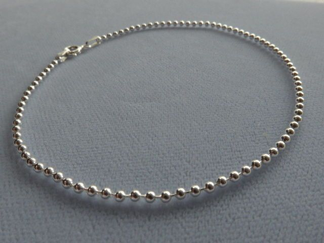 quot with anklet silver beads inches snake ankle chain adjustable sterling to faceted bracelets dp