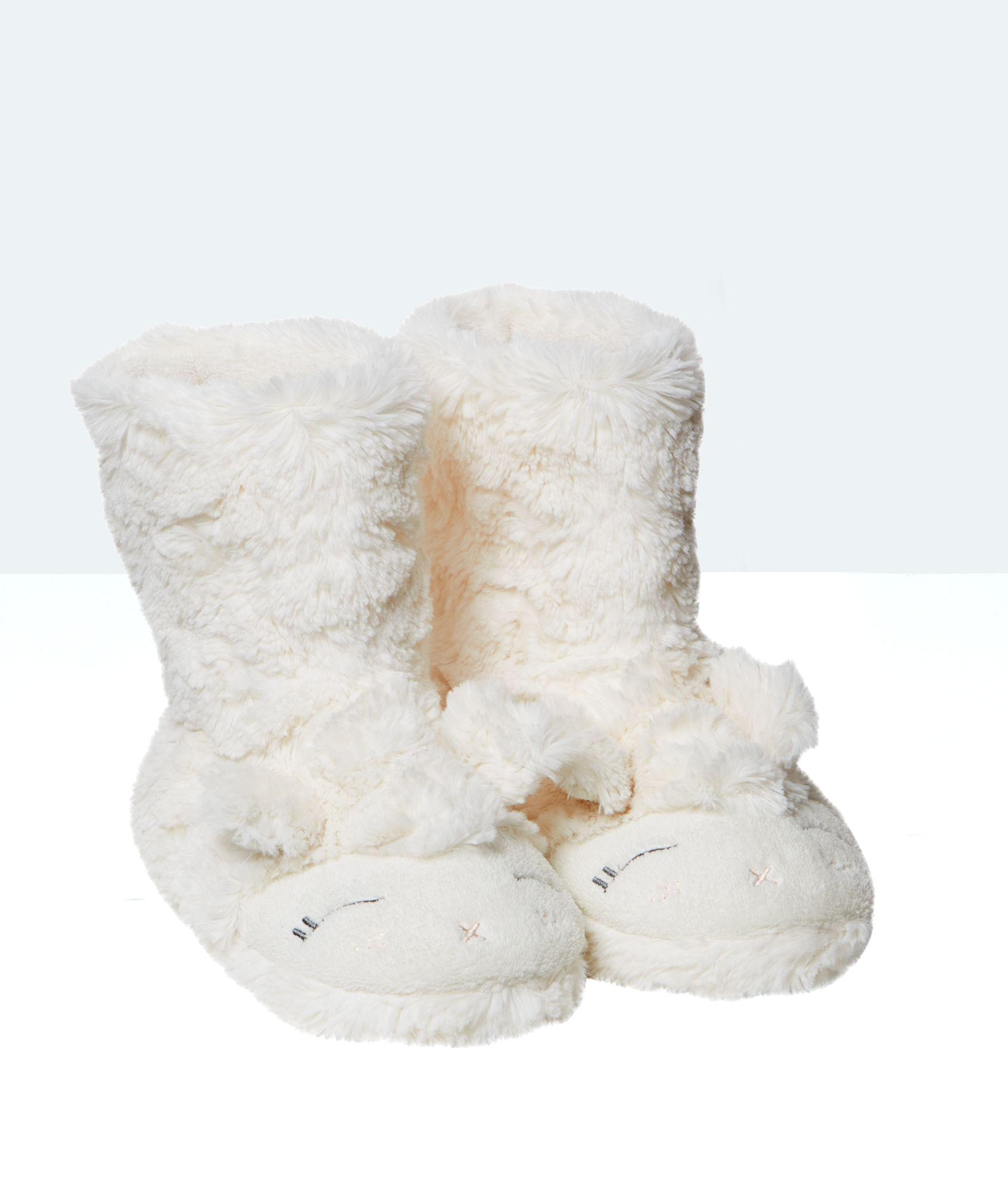 d7738cd925c Bottines chaussons fausse fourrure mouton - SHEEP - ECRU - Etam ...