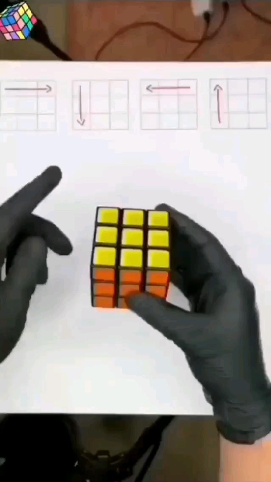 Rubik's Cube trick tutorial easy trick to solve Rubik's Cube easy life hacks