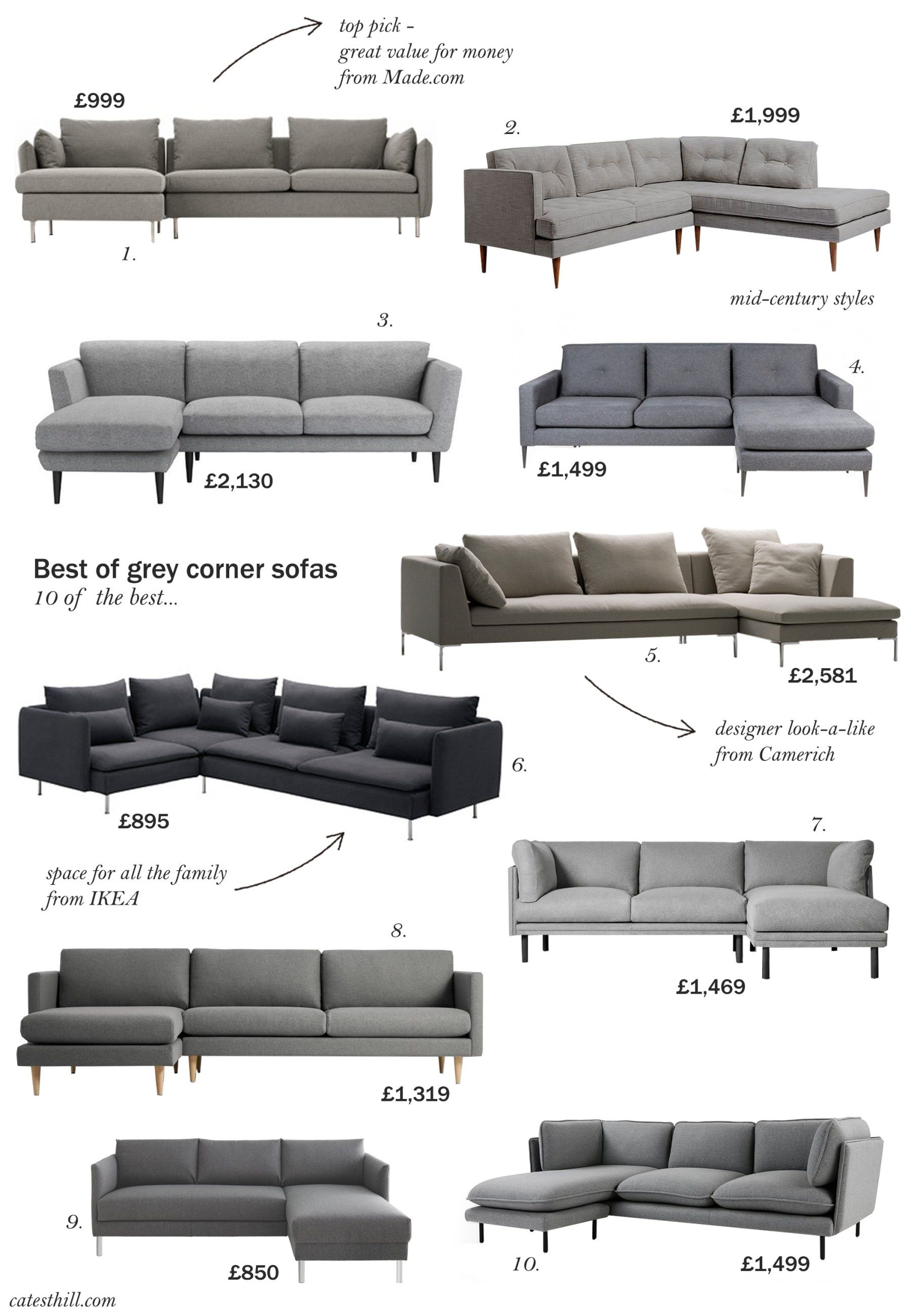 10 of the best grey corner sofas images
