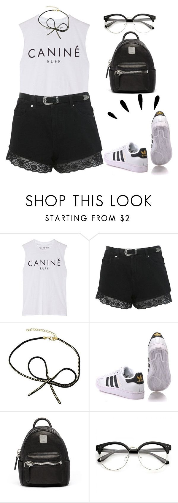 """#backtoschool"" by sarabutterfly ❤ liked on Polyvore featuring Brian Lichtenberg, Miss Selfridge, Old Navy, adidas Originals, MCM and BackToSchool"