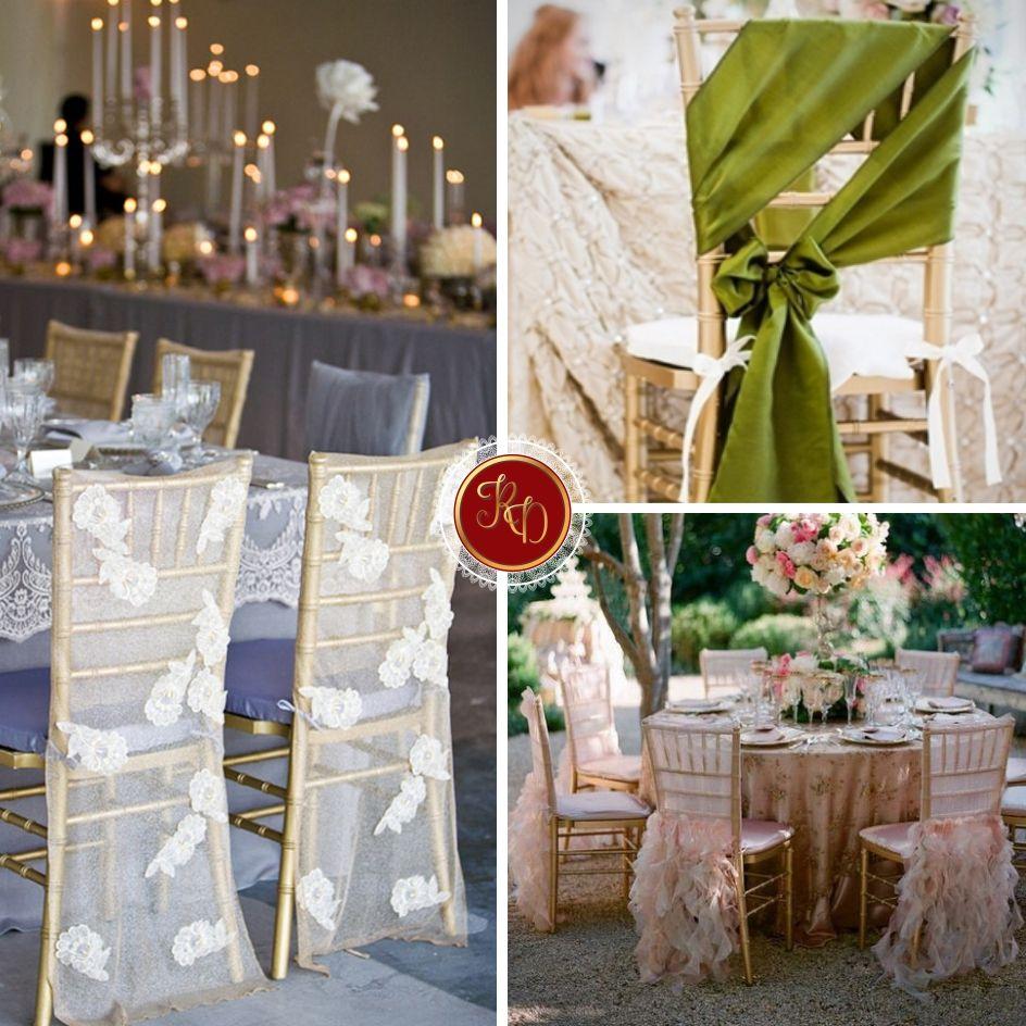Confira 3 ideias para decorar as cadeiras do seu evento. #cadeiras #RuthDourado #decorações