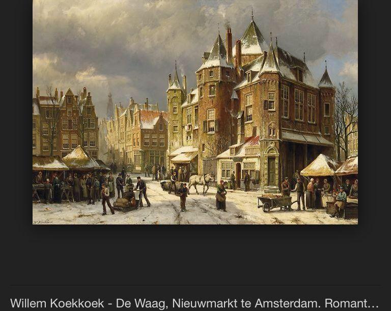 Willem Koekkoek schilderij