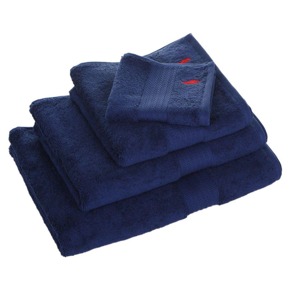 Buy Ralph Lauren Home Player Towel Navy Bath Sheet Red