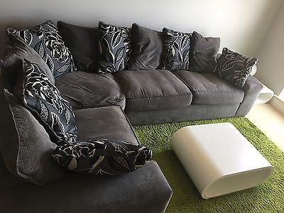large dark grey corner sofa cartoon picture 2 no reserve left hand csl aphrodite ebay