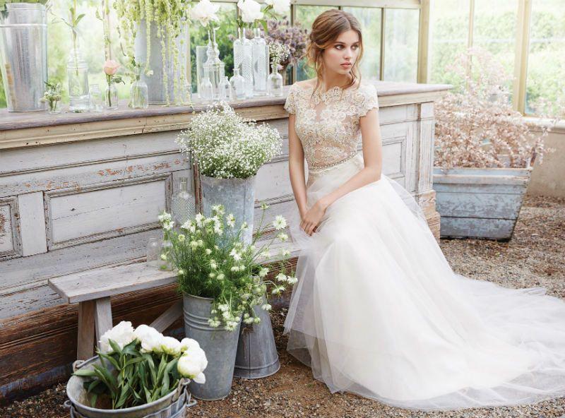Elegant wedding dress by Tara Keely! TARA KEELY FALL 2016 WEDDING DRESSES www.elegantwedding.ca