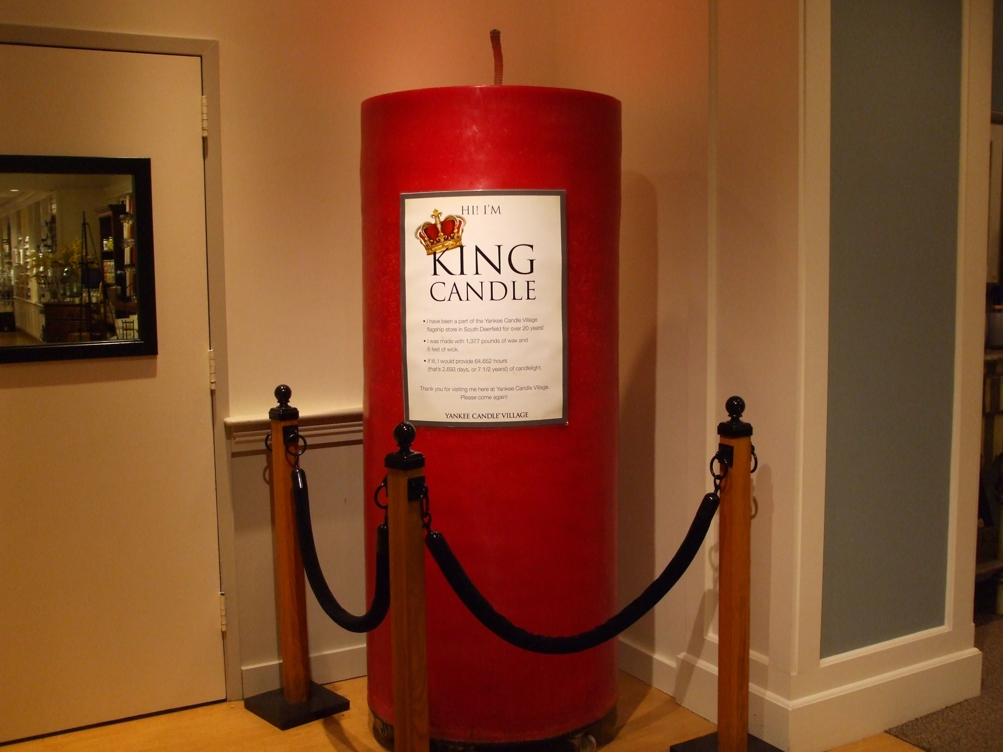 King Candle At Yankee Village Candles Sconces Wall Lights