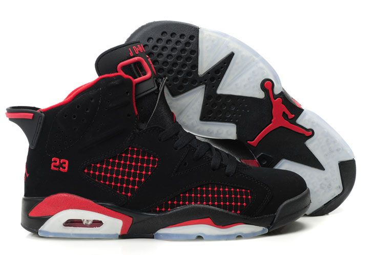best service da608 4a30b Women Air Jordan 6 (VI) Embroidery Black Red,New Jordan Shoes