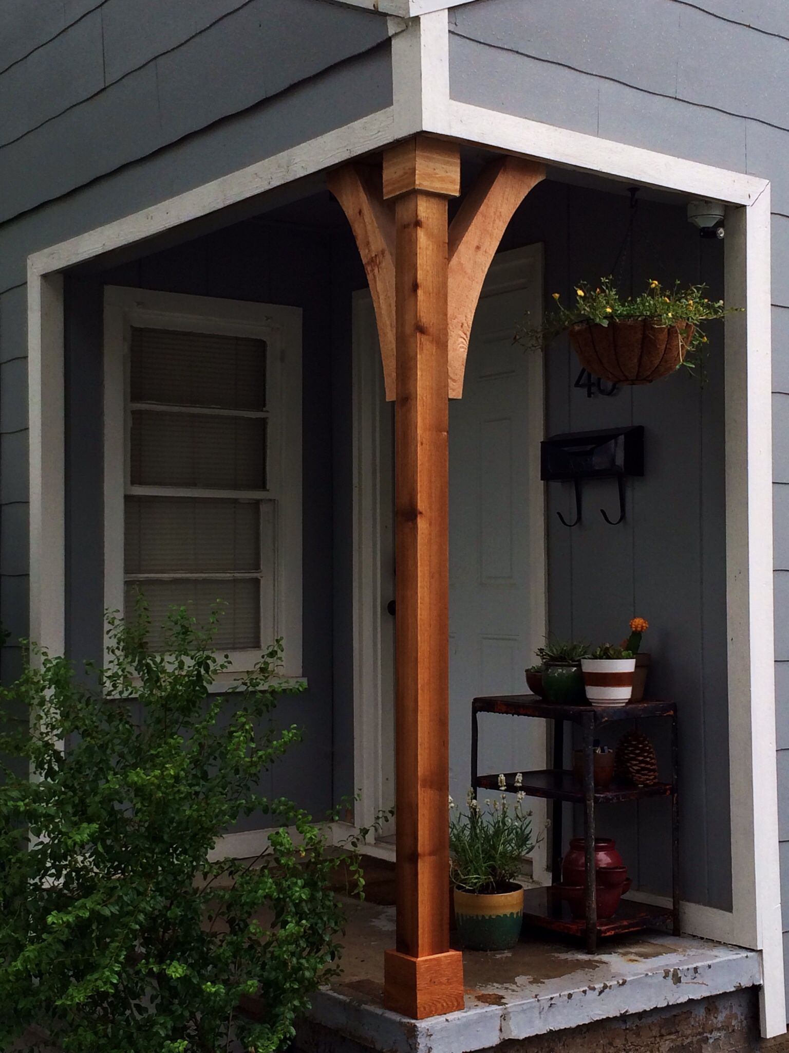 Front porch cedar column house pinterest front for Front door patio ideas