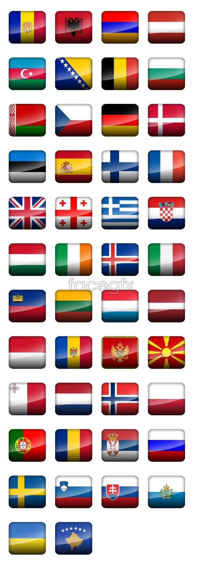 European Countries Flag Icons Country Flags Icons Flags Of European Countries Flag Icon