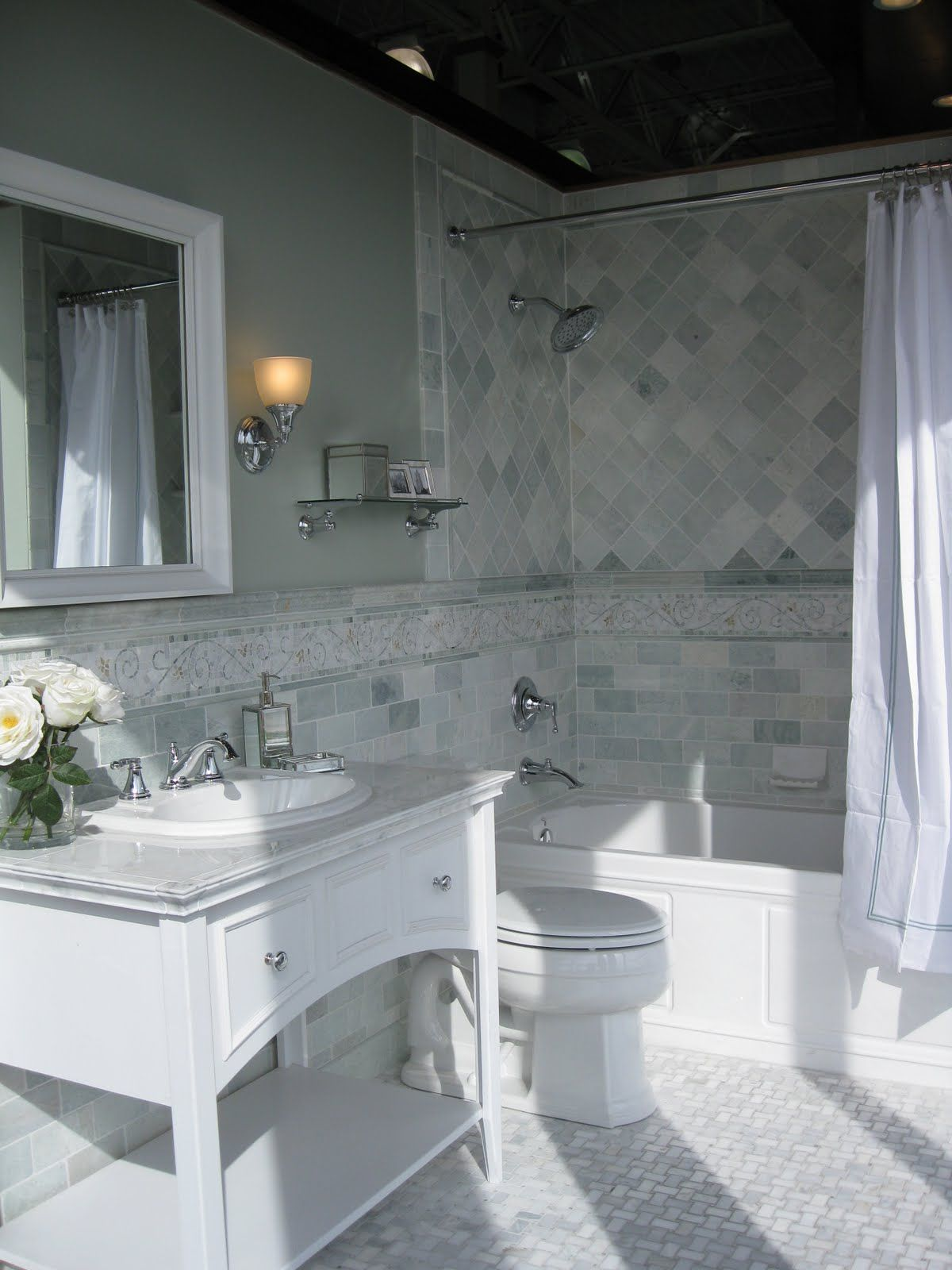 Love this marble mosaic floor tile Love