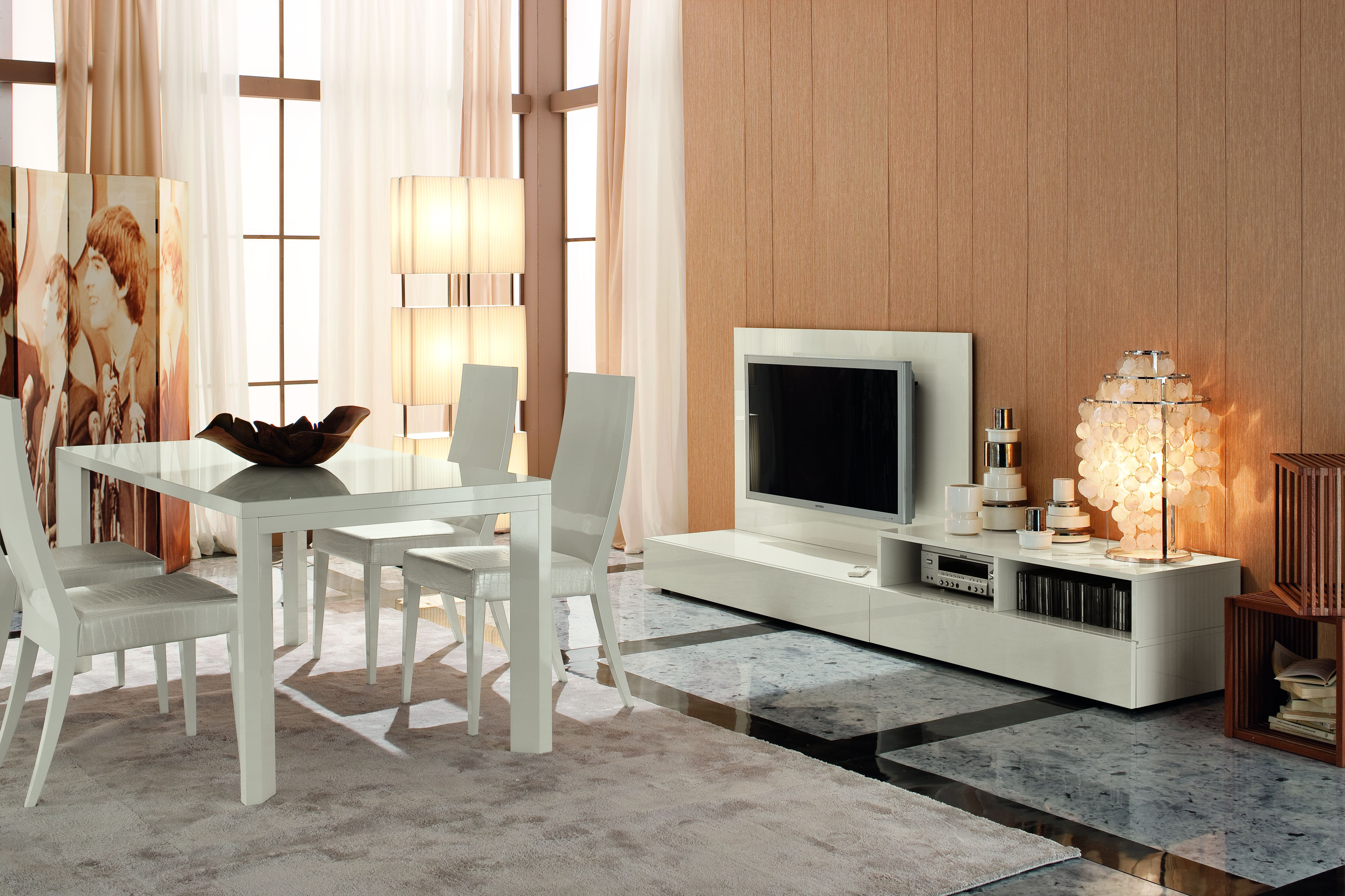 nightfly dining table and tv stand by rossetto rossetto furniture rh pinterest co uk Living Room TV Cabinets TV Stand Living Room Ideas