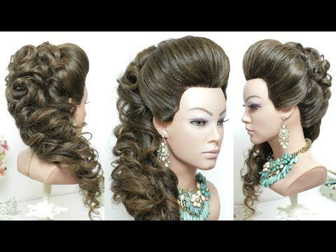 Beautiful Hairstyles With Puff Easy Wedding Curly Hairstyle - Curly hairstyle youtube