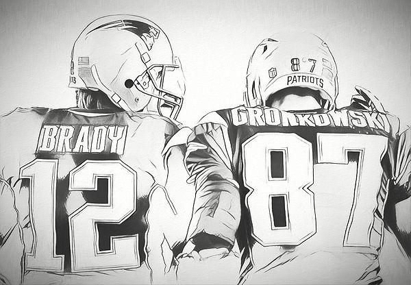 Tom Brady Rob Gronkowski Sketch By Dan Sproul Tom Brady Brady Rob Gronkowski