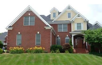 Red Brick W Buttery Yellow Siding Idea For House Color Red Brick House House Colors House Exterior
