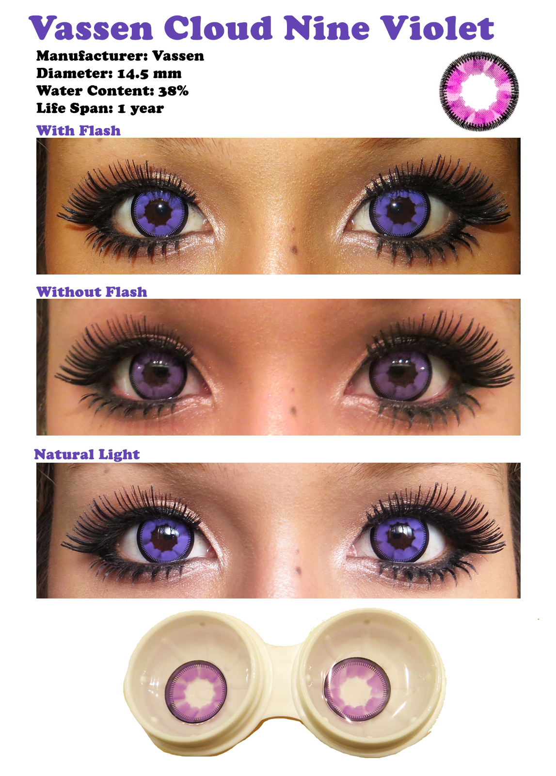 color contacts for dark eyes | vassen cloud nine violet sponsored