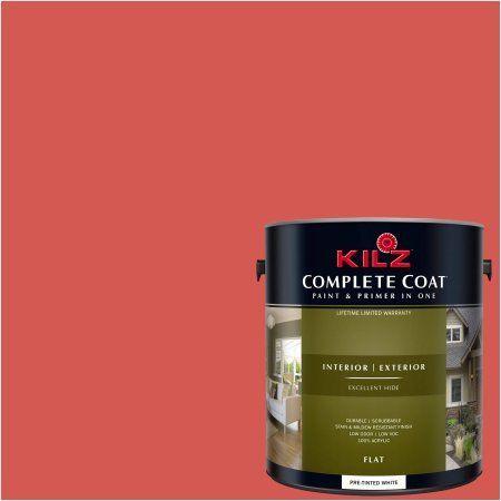 Kilz Complete Coat Interior Exterior Paint Primer In One La180 02 Hibiscus Tea Red Products Paint Primer Exterior Paint Kilz Paint