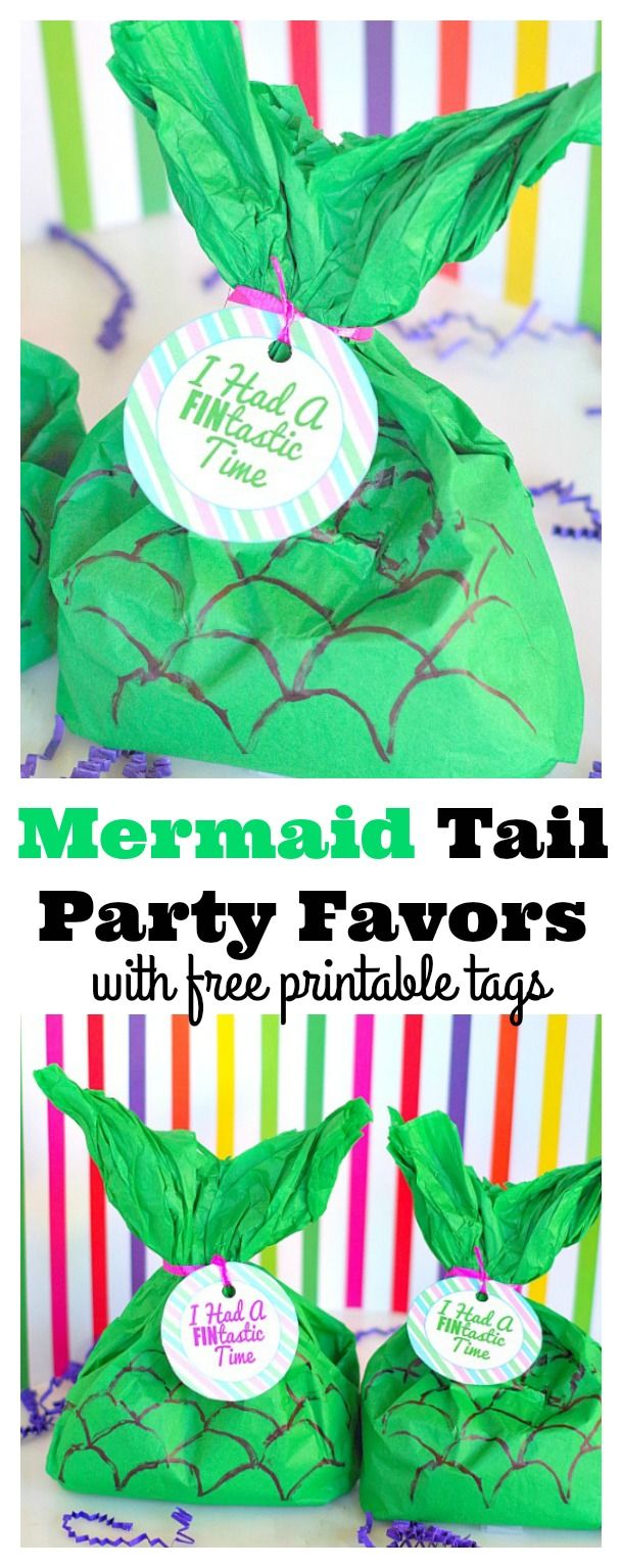 Mermaid Party Favors for a perfect birthday party