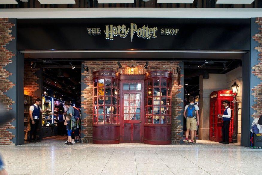 The Harry Potter Shop At Heathrow Terminal 5 Just Got Bigger Harry Potter Shop Harry Potter Store Heathrow