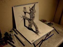 Resultado De Imagen Para Dibujos A Lapiz 3d Coole Bleistiftzeichnungen 3d Zeichnungen Zeichnungen