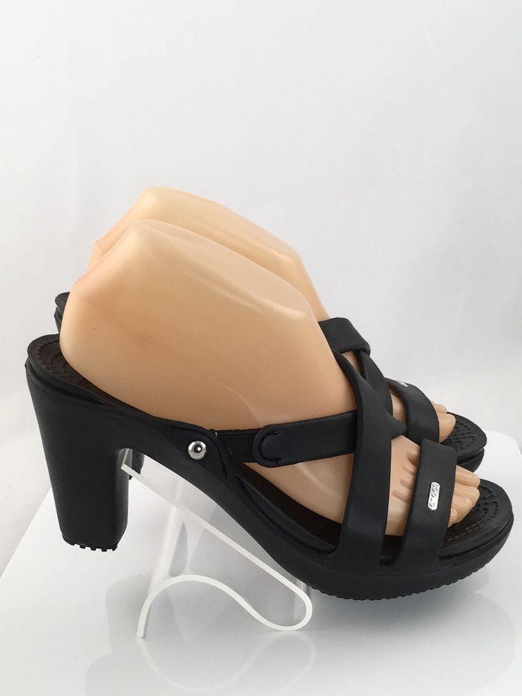 63a02fbea7 Crocs Cyprus IV Heel Womens size 8 Black 14558-060 Wedge MSRP $45.00 New # Crocs #PlatformsWedges #Casual