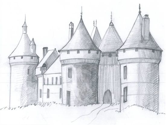 How To Draw A Medieval Castle In 6 Steps Art Inspiration