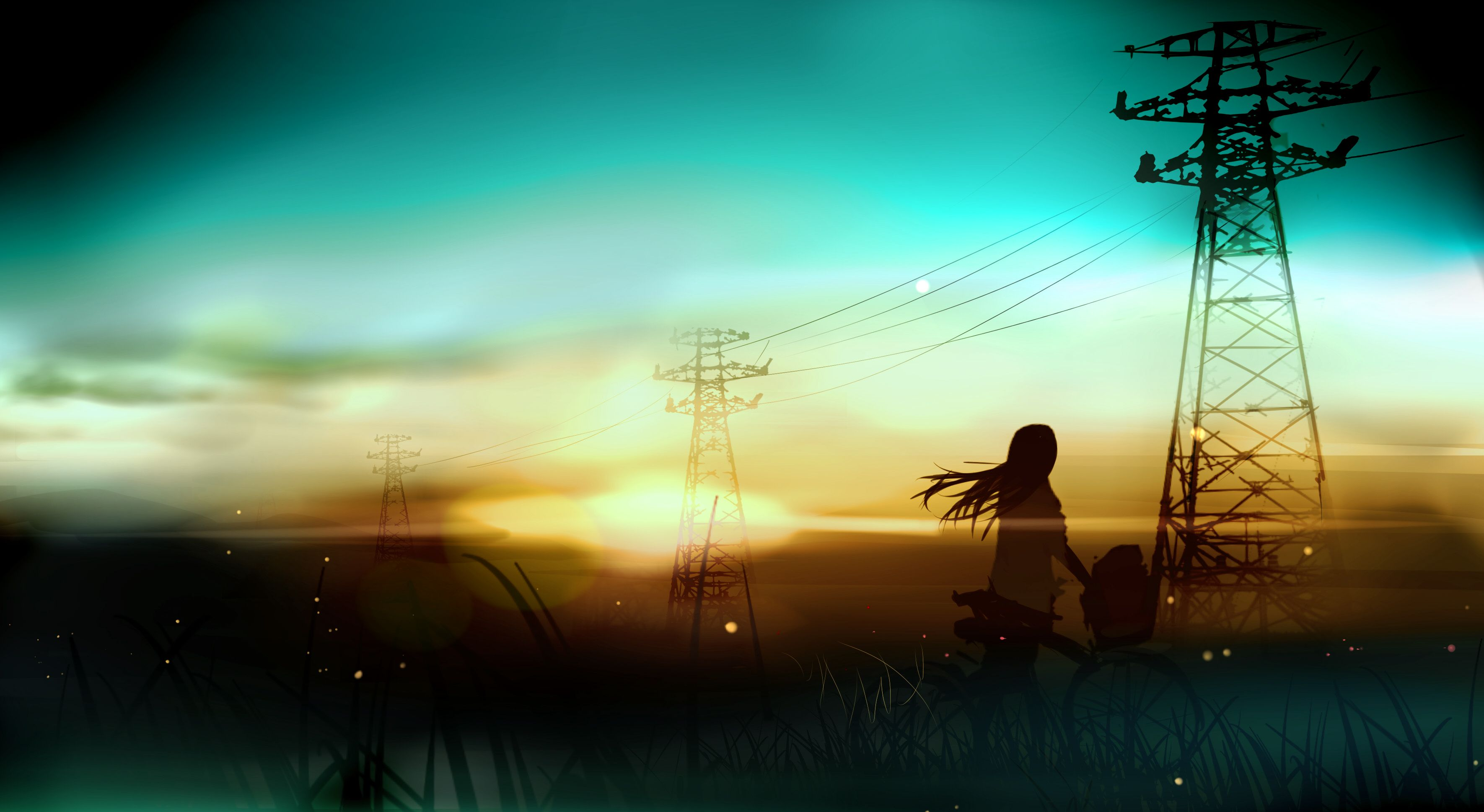 Sunset In The Fields イラスト 壁紙 メドレー