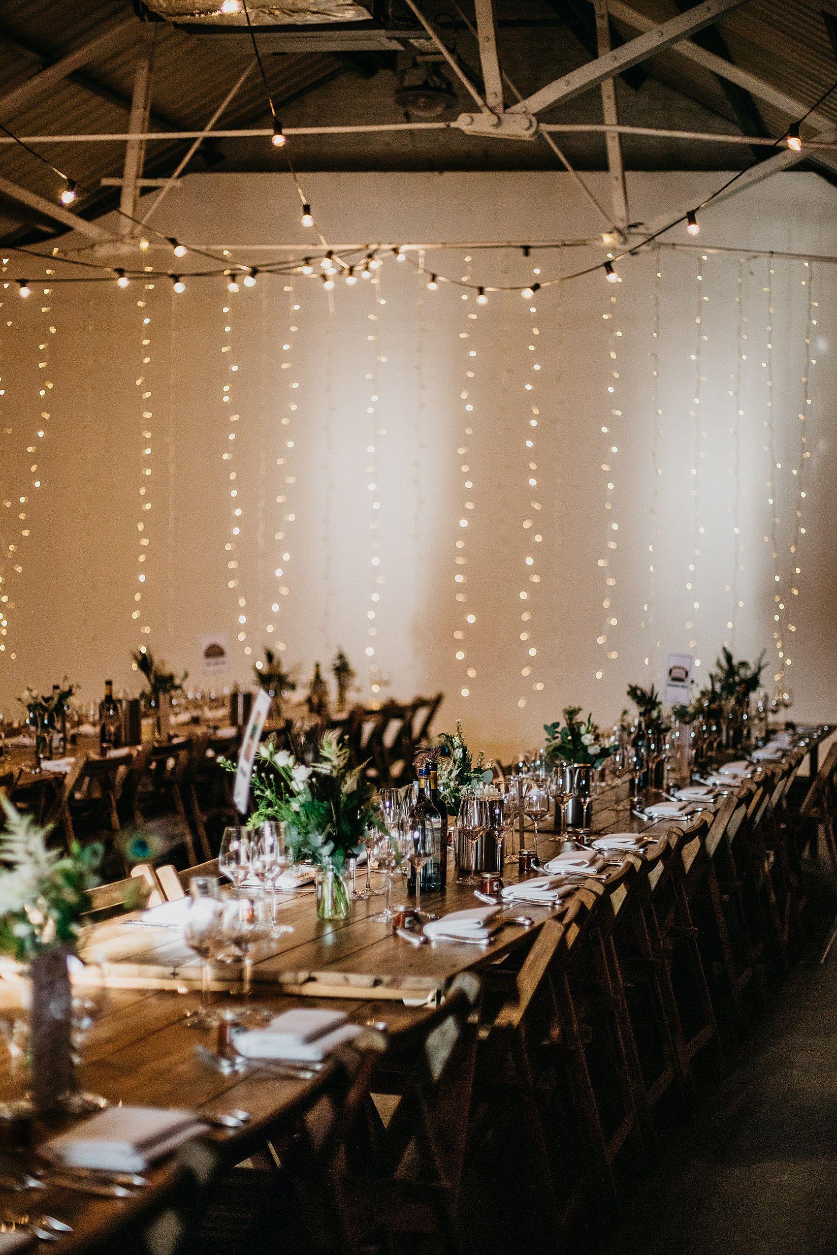 A Shoreditch Studios Asylum London Wedding For An Anglo Indian Couple Pronovias Bride In 2020 London Wedding Modern Wedding Venue Fairy Lights Wedding
