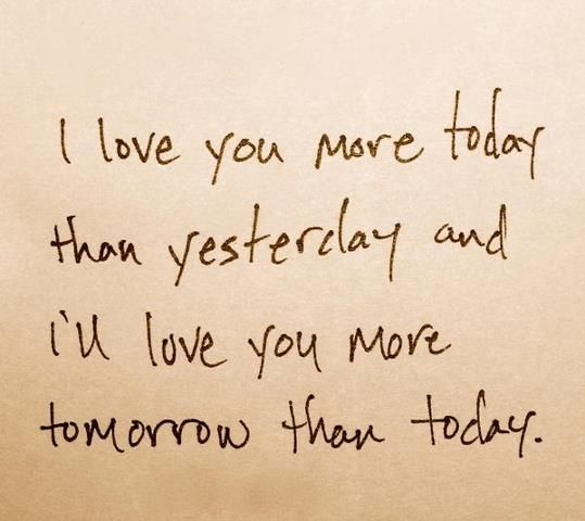 Ill Love You Even More Each And Every Day Love Pinterest