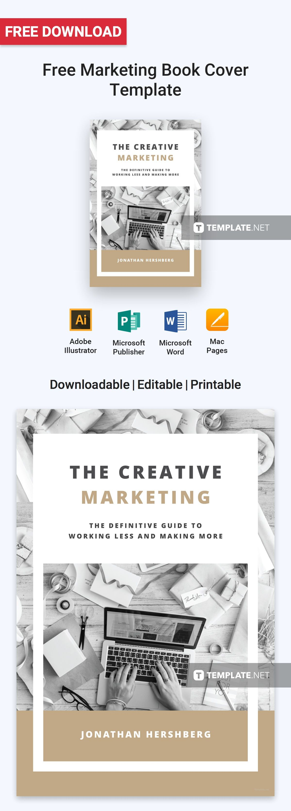 Free Marketing Book Cover Free Book Cover Templates Pinterest