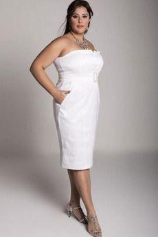 Robe blanche dentelle grande taille