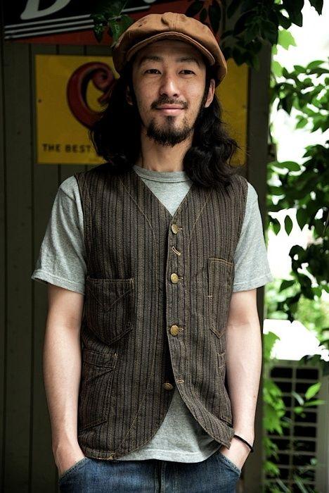 FW Conductor vest-grained stripe