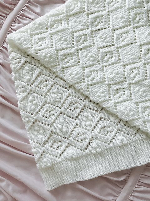 Thine Receiving Blanket Free Baby Knit Pattern   crocheted ...