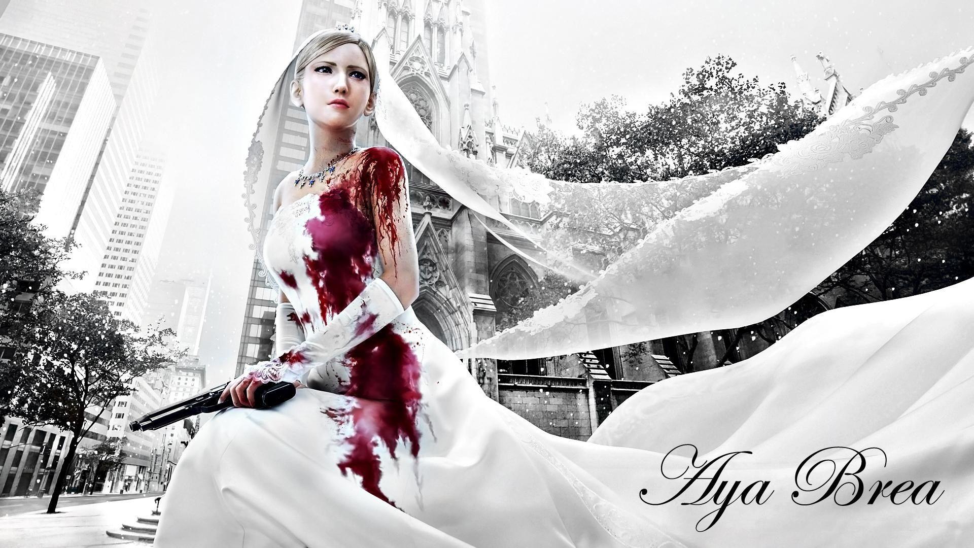 1920x1080 Free Computer Wallpaper For Parasite Eve Wedding Artwork Wedding Dresses Wedding Art