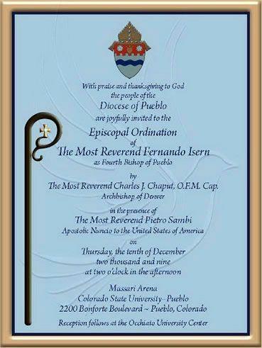 Ordination Invitation Isern Wording Art Graphic Design