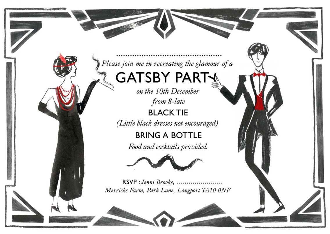 Gatsby Party Invitation | The Great Gatsby Dinner Party | Pinterest ...
