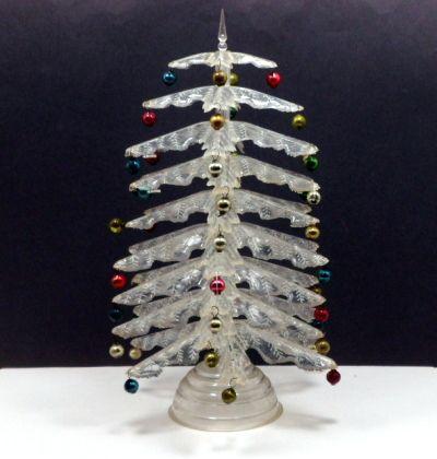 Vintage Christmas Peerless Crystal Plastic Christmas Tree Box C 1950s 75 00 Vintage Christmas Tree Vintage Christmas Unique Christmas Trees